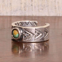 NORTH WORKS ノースワークス / NAVAJO STANP RING/TURQUOISE TRIANGLE リング / N-224