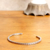 NORTH WORKS ノースワークス / Stamped 900Silver super narrow Cuff Bracelet 2 バングル / W-013