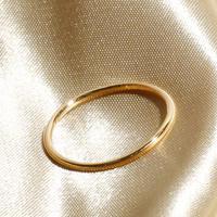Losau ロサウ / Single line ring リング / lo-r008-gold