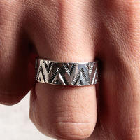 NORTH WORKS ノースワークス / 900Silver Stamp Ring TRIANGLE WAVE / W-050
