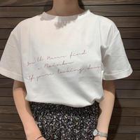 袖折り返し ロゴTシャツ