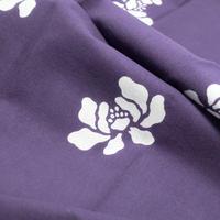 あひろ屋てぬぐい 牡丹 紫色