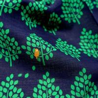 青衣 ハンカチ 森とムクドリ