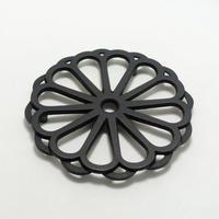 岩鋳 釜敷 輪菊(小・黒)