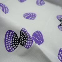 あひろ屋てぬぐい 浅蜊 薄紫色・墨色 パターンC