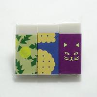 文學堂 消しゴム3個セット 「吾輩は猫である」 夏目漱石