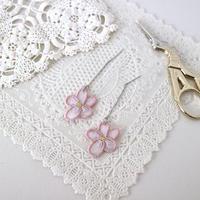 pink violet ピアス