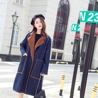 デニムジャケット レディース 裏ボア チェスターコート ロングコート 韓国 ファッション K30045