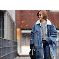 裏ボアデニムジャケット 韓国 ファッション K30044