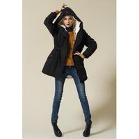 モッズコート レディース 大きいサイズ 女性用 ファー フード付 ミリタリーコート 韓国ファッション秋冬 K30071