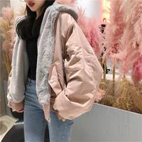 ボアフード付きMA-1 ブルゾン レディース ジャケット 大きいサイズ 可愛い 韓国ファッション ミリタリージャケット K30100