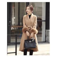 ファー付ロングコート レディース 超ロングコート 超ロング丈コート ファー付コート 秋冬 韓国 ファッション K30017