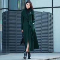 ロングコート レディース 超ロングコート 超ロング丈コート ファー付ロングコート 2XL 3XL 韓国 ファッション K30013