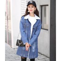 デニムジャケット レディース ロング 裏ボア コート 韓国 ファッション K30040