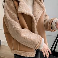 裏ボアムートンジャケット アウター ショート丈 大人可愛い 韓国ファッション オルチャン 秋冬 C20045