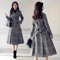 トレンチコート風 グレンチェック コート Aラインコート レディース 大きいサイズ オルチャン 韓国 ファッション C2004