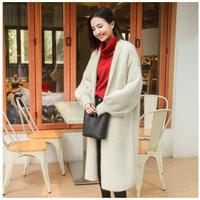 秋冬 レディース ふわふわ ロングニットカーディガン セーター コート ニットジャケット 韓国 ファッション K30062