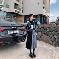 ニット×スカートセットアップ セットアップスカート ロングスカートセットアップ 韓国ファッション S30016