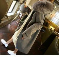 ファーコート フード付コート レディース ボアコート 超ロングコート ロング丈コート ボアファーコート 韓国 ファッション K30021