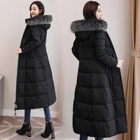 ロングファーダウンコート アウター シンプル ジャケット ファー 大人かわいい オルチャン 韓国 ファッション K3078