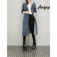 デニムジャケット レディース 裏ボア デニムコート ロングコート 大きいサイズ 韓国 ファッション K30038