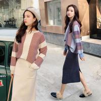ニットセットアップ ニットスカートセットアップ ニットセットアップレディース 韓国ファッション P30003