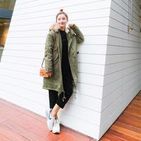 モッズコート レディース 大きいサイズ 女性用 ファー フード付 ミリタリーコート 韓国ファッション秋冬 K30074