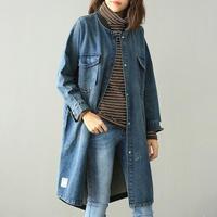 デニムジャケット レディース ブルゾン ロングジャケット 韓国 ファッション K30046