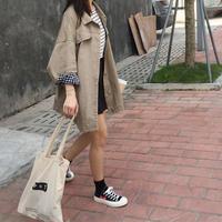 ギンガムチェックオーバーサイズジャケット シャツ シンプル ウインドブレーカー 韓国 ファッション K3033