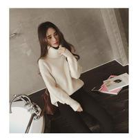 冬新作クールな暖かいレディースタートルネックリブニットオルチャン 韓国 ファッション T40033