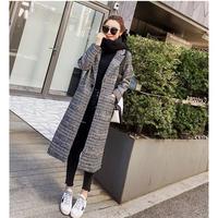 チェック柄チェスターコート レディース ロングコート 大きいサイズ グレンチェック 韓国 ファッション K30031