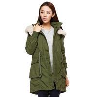 モッズコート レディース 大きいサイズ 女性用 ファー フード付 ミリタリーコート 韓国ファッション秋冬 K30072