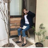 ボア ボアブルゾン ボアアウター ボアコート ボアジャケット 韓国ファッション オルチャン ガウンコート K39002