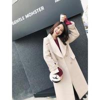 ライトベージュウールコート チェスターコート アウター オルチャン 韓国 ファッション K3001