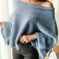 ゆる可愛い*゜オフショルドルマンニット セクシー 肌見せ ゆったり 秋冬 オルチャン 韓国 ファッション T2036