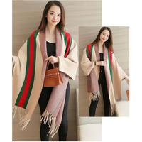 【お取寄せ商品】ニットストールカーディガン ドルマンスリーブ ショール アウター ケープ 韓国 ファッション K3018