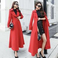 レディース 超ロングコート 超ロング丈コート ロングコート 大きいサイズ 2XL 3XL 4XL 韓国 ファッション K30001