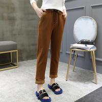 裏起毛ボアスウェットパンツ オルチャン シンプル かわいい トレンド 韓国 ファッション B3025