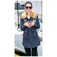 デニムジャケット レディース ファー付 コート 大きいサイズ 3XL 4XL 5XL 韓国 ファッション K30037