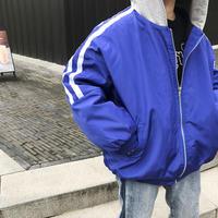 フード付きバックロゴブルゾン アウター ショート丈 スポーツMIX 韓国ファッション オルチャン 秋冬 C20044