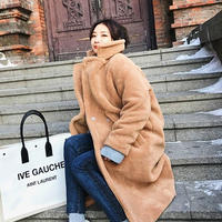 ロングボアコート*゜ボアブルゾン アウター もこもこ 秋 冬 ロング丈 オルチャン 韓国 ファッション C2018