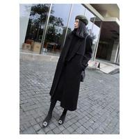チェスターコート レディース ロングチェスターコート チェスターコート ロング 黒 秋冬 大きいサイズ 韓国 ファッション K30002