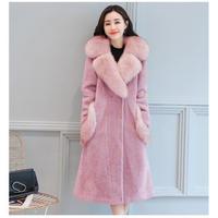 ファー付ロングコート レディース 超ロングコート 超ロング丈コート ファー付 2XL 3XL 4XL 韓国 ファッション K30015