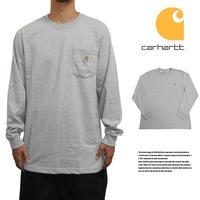 CARHARTT カーハート ロングTシャツ ロンT ポケットTシャツ US規格 K126 HGY ヘザーグレー