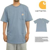CARHARTT カーハート ポケットTシャツ US規格 K87 ブルー ボーダー