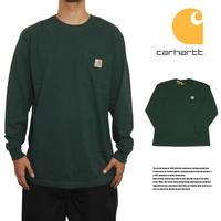 CARHARTT カーハート ロングTシャツ ロンT ポケットTシャツ US規格 K126 HTG ハンターグリーン