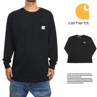 CARHARTT カーハート ロングTシャツ ロンT ポケットTシャツ US規格 K126 ブラック