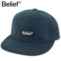 Belief NYC キャップ 6パネルキャップ フリース Fleece Logo 6-Panel  DEEP BLUE