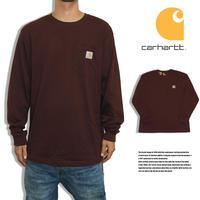 CARHARTT カーハート ロングTシャツ ロンT ポケットTシャツ US規格 K126 PORT バーガンディ