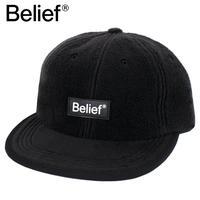 Belief NYC キャップ 6パネルキャップ フリース Fleece Logo 6-Panel  BLACK